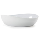 OSSLO MELAMINE WHITE SERVING BOWLS - 6 QT OVAL BOWL, 16.75