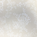 FLANNEL BACK TABLECLOTH, WHITE LACE, 54