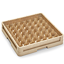 49 SQUARE COMPARTMENT CLOSED WALL RACK, BEIGE