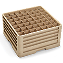 49 SQUARE COMPARTMENT CLOSED WALL RACK WITH 4 EXTENDERS, BEIGE