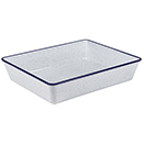 PLATTERS, BLUE SPECKLED WITH BLUE TRIM, MELAMINE