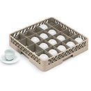 20 COMPARTMENT CUP RACK, BEIGE
