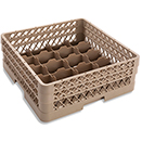 20 COMPARTMENT RACK WITH 2 OPEN EXTENDERS, BEIGE
