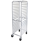 SHEET PAN RACK, 20 TIER END LOAD, 2 BRAKES, ALUMINUM, KNOCKED DOWN