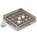 25 SQUARE COMPARTMENT CUP RACK WITH 1 EXTENDER, BEIGE
