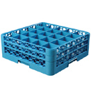 GLASS RACK W/ 2 DIVIDED EXTENDERS, 25-COMPARTMENT