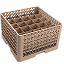 25 SQUARE COMPARTMENT BASE RACK WITH 5 EXTENDERS, BEIGE