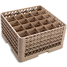 25 SQUARE COMPARTMENT BASE RACK WITH 4 EXTENDERS, BEIGE