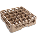 25 SQUARE COMPARTMENT BASE RACK WITH EXTENDER, BEIGE