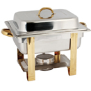 4 QT. GOLD ACCENTED CHAFER