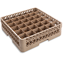36 SQUARE COMPARTMENT RACK WITH 1 EXTENDER, BEIGE