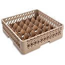 36 SQUARE COMPARTMENT RACK WITH 1 OPEN EXTENDER, BEIGE