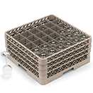 36 SQUARE COMPARTMENT RACK WITH 3 EXTENDERS, BEIGE