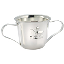 BABY CUP W/  2-HANDLE, SILVERPLATE