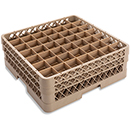 49 SQUARE COMPARTMENT RACK WITH 2 EXTENDERS, BEIGE