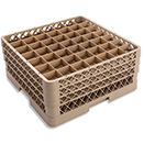 49 SQUARE COMPARTMENT RACK WITH 3 EXTENDERS, BEIGE