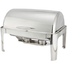 MADISON FULL SIZE RECTANGULAR ROLL TOP CHAFER, STAINLESS