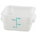 2 QT. SQUARE WHITE FOOD STORAGE CONTAINER