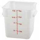 8 QT. SQUARE WHITE FOOD STORAGE CONTAINER
