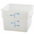 12 QT. SQUARE WHITE FOOD STORAGE CONTAINER