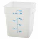18 QT. SQUARE WHITE FOOD STORAGE CONTAINER