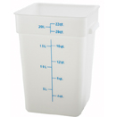22 QT. SQUARE WHITE FOOD STORAGE CONTAINER