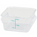 2 QT. SQUARE CLEAR POLYCARBONATE FOOD STORAGE CONTAINER