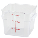 6QT. SQUARE CLEAR POLYCARBONATE FOOD STORAGE CONTAINER
