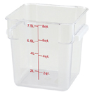 8 QT. SQUARE CLEAR POLYCARBONATE FOOD STORAGE CONTAINER