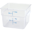 12 QT. SQUARE CLEAR POLYCARBONATE FOOD STORAGE CONTAINER