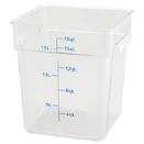 18 QT. SQUARE CLEAR POLYCARBONATE FOOD STORAGE CONTAINER