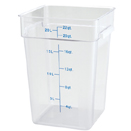 22 QT. SQUARE CLEAR POLYCARBONATE FOOD STORAGE CONTAINER