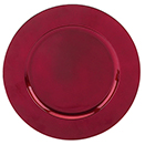 ACRYLIC CHARGER PLATE, RED