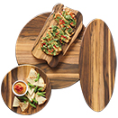 ACACIA MELAMINE SERVING BOARDS / PLATTERS