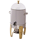 ALLEGRO COFFEE URN, STAINLESS WITH GOLD ACCENTS