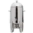 ALLEGRO COFFEE URN, STAINLESS WITH TITANIUM ACCENTS