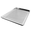 SHEET PAN WITH WIRE IN RIM, PERFORATED, ALUMINUM