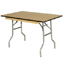 BANQUET RECTANGULAR WOOD FOLDING TABLES