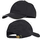 CHEF HAT, BASEBALL STYLE, ADJUSTABLE, BLACK