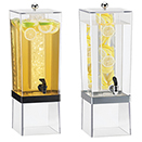 COLD BEVERAGE DISPENSERS, METAL BAND, POLYCARBONATE TANK AND BASE
