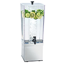 COLD BEVERAGE DISPENSERS,  POLYCARBONATE TANK AND STAINLESS STEEL BASE