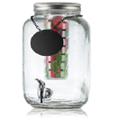 2 GAL GLASS MASON JAR BEV DISPENSER W/CHALKBOARD NECKLACE