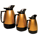 CARAFES, BLACK TRIM - BRUSHED GOLD BODY