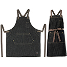 BIB APRON, HEAVYWEIGHT DENIM, CROSS BACK