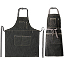 BIB APRON, HEAVYWEIGHT DENIM, ADJUSTABLE NECK