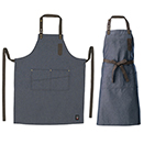 BIB APRON, MID-WEIGHT DENIM, ADJUSTABLE NECK