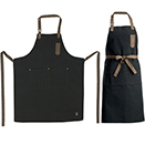 BIB APRON, MID-WEIGHT BLACK, ADJUSTABLE NECK