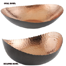 BLACK AND COPPER BOWLS