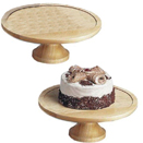 WOOD DISPLAY/CAKE STAND AND COVER