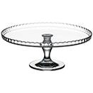 CAKE STAND WITH FLUTED TOP, GLASS, PKG/2
